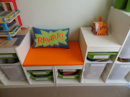 Turn two Ikea Trofast units into reading Seat