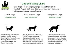 Terrier Size Chart Ez Wash Premium Headrest Memory Foam Dog Bed Sky Houndstooth