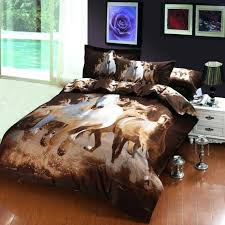 horse print duvet covers oil painting galloping horse egyptian cotton bedding bedspreads for full queen size