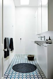 Patterned Floor Tiles Bathroom 15 Small Bathrooms That Are Big On Style Mirror Cabinets Ideas