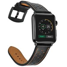 mifa apple watch band leather 42mm bands iwatch series 1 2 3 nike sports replacement strap dressy classic buckle vintage case band with black on on