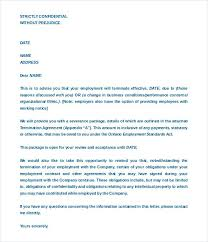 Termination Of Employment Contract Letter Template – Kensee.co