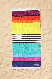 cool beach towels. Sunnylife Sorrento Brighton Stripe Beach Towel ($55): Why Pick Just One Color When You Can Have Them All? Embrace The Rainbow With A Punchy In Cool Towels