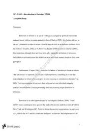 sclg introduction to sociology thinkswap sclg1002 terrorism analytical essay