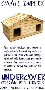 insulated outdoor cat house outside cat house for small duplex cedar insulated outside cat house