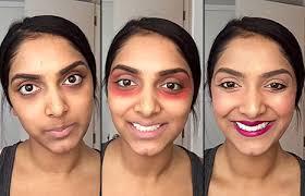 you beauty ger deepica mutyala uses red lipstick to get rid of dark under eye circles