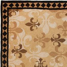 pp fleur lis brown closeup area rug carpet sr runner vidalondon homefires outdoor rugs kitchen fluffy soft extra large thick unique affordable sizes