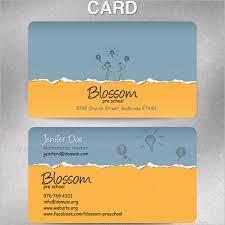 15 Teacher Business Card Templates Free Psd Designs