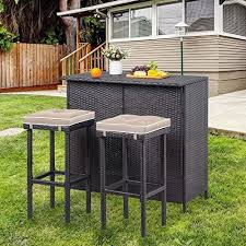 outdoor wicker bar sets