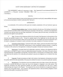 sample contract agreement sample contract agreement 8 free documents in pdf doc