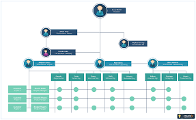 Structure Chart Creator Matrix Organizational Structure With Paths Of Reporting