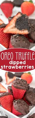 Oreo Truffle Dipped Strawberries - an easy treat for the one you love!  Stuff strawberries with an Oreo truffle before you dip - genius!(Chocolate  Cake With ...