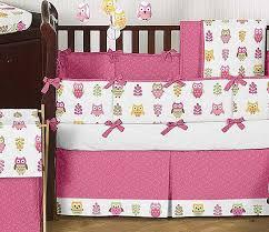 happy owl crib bedding set by sweet jojo designs 9 piece blanket