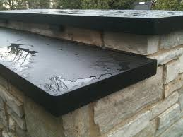 black pearl honed granite outdoor barbeque in hinsdale il