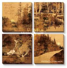 modern lodge collection sepia toned canvas giclee art print set of 4 on sepia bathroom wall art with modern lodge collection sepia toned wrapped canvas giclee print wall