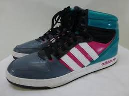 adidas 004001. image is loading adidas-004001-trefoil-turq-pink-gray-hi-top- adidas 004001 .