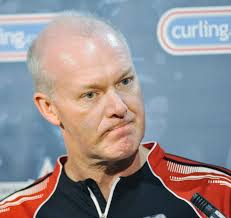 Ontario skip Glenn Howard was upset by Northern Ontario skip Brad Jacobs 9-7 on day nine of the 2013 Tim Hortons Brier at Rexall Place in Edmonton, ... - 8076283