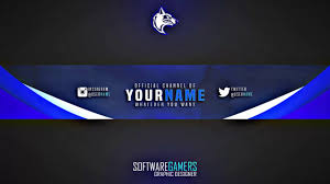 Youtube Channel Banners Clean Gaming Youtube Channel Banner Channel Art Gaming Banner V1
