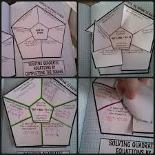 solving quadratic equations by completing the square foldable interactive page