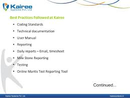 Kairee Systems At A Glance