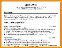 Resume Summary Examples For Sales 8 9 Career Summary Example