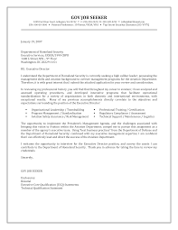 Free Government Cover Letter Sample Templates At