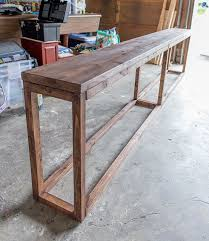 Diy Sofa Table With Storage Console Tables Diy Sofa Table With