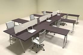 office workstation desks. Six Person Acrylic Divider Office Workstation Desk Set, #OF-CON-AP52 Desks