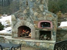 great outdoor fireplace pizza oven combo best of stone with what i the kit combination insert how to build design