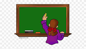 Clipart Animated Teacher Writing On The Board With Writing On