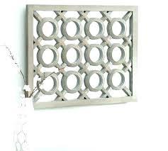lattice wall art pottery barn gray wash mirror panel pa lattice wall art