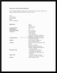 Resume Examples For College Students With Little Experience Entry