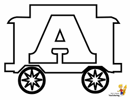 These train coloring pages feature bullet trains, steam engines, freight trains, and more. Toy Train Learning Letters Free Alphabet Coloring Numbers