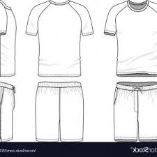 Short Templates Templates Of Blank T Shirt And Shorts Vector Orangiausa