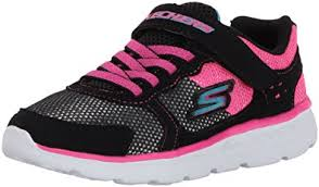 skechers go run 400. skechers kids girls\u0027 go run 400-sparkle sprinters sneaker, black/hot pink 400