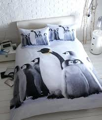 penguin bedding set brushed cotton duvet cover sets