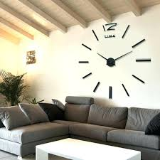 giant wall clock real big wall clock rushed mirror wall sticker living room home decor fashion