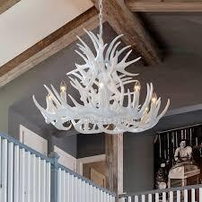 recent white antler chandelier inside 9 light modern antler chandelier white painting candle gallery 7