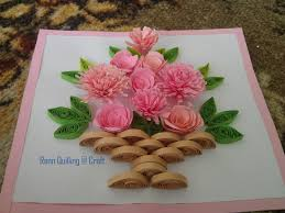 Paper Quilling Rose Flower Basket How To Make A Flower Basket With Paper Complete Drawing Tutorial