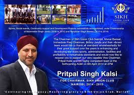 Pritpal Singh Kalsi for Chairman - Home