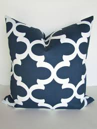 BLUE OUTDOOR PILLOWS Navy Blue Throw Pillow Covers Blue Outdoor