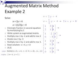 augmented matrix method example 2