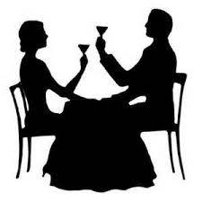 dinner table clipart black and white. paris dining table clipart black and white dinner
