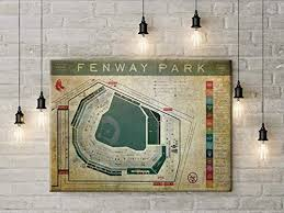 Unh Wildcat Stadium Seating Chart Amazon Com Fenway Park Blueprint Seating Chart Vintage