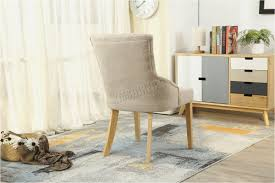 linen desk chair minimalist westwood new linen fabric dining chairs scoop tufted back fice elegant