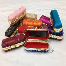 Details About Silk Brocade Travel Jewelry Gift Boxes With Mirror Lipstick Case Make Up