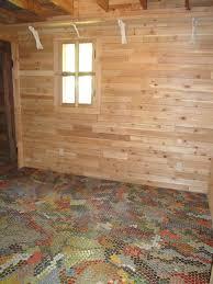 Impressive Basement Floor Ideas Do It Yourself Bottle Cap Flooring For Decor
