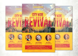 City Wide Revival Church Flyer Template Samples – Traguspiercing.info