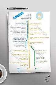 Creative Art Timeline Resume Word Template Word Template