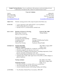 Nursing Assistant Resume Objective Cna Sample With Certified For